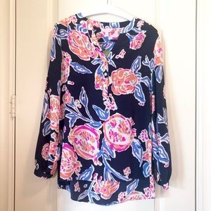 NWT Lilly Pulitzer Navy Long Sleeved Shirt